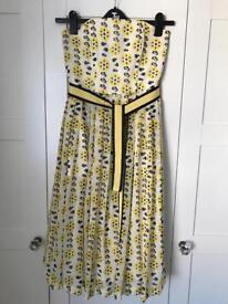 Georgous yellow, white & black dress size 12