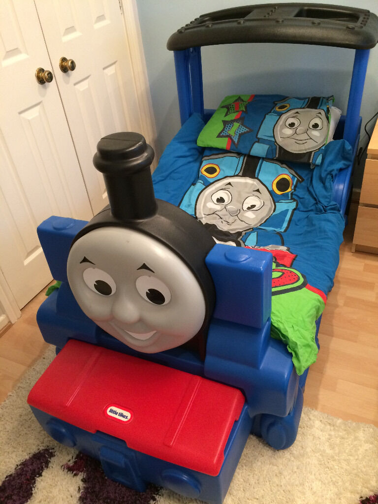 Little tikes thomas the train bed - Little Tikes Thomas The Tank Engine Bed With Small Storage Box