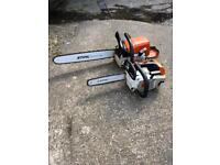stihl ms201t and ms390 chainsaws
