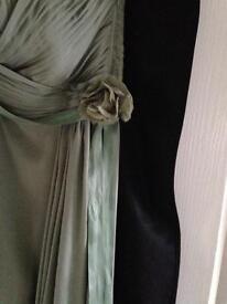 COAST ALLURE MAXI DRESS -BRIDESMAID - SIZE 16 – THYME GREEN