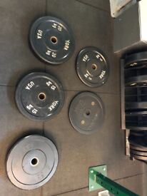 York & Ivanko bumper plates weights with toast rack
