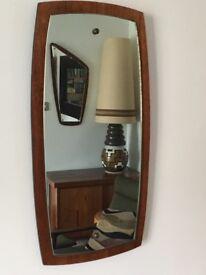 Vintage Retro Mid Century Teak Mirror