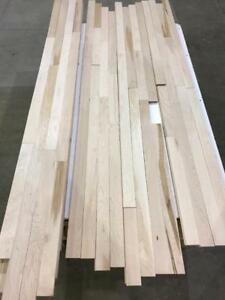Unfinished 2 1/4 hard maple flooring, 2.99$/sf
