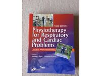 Physiotherapy for Respiratory and Cardiac problems, excellent textbook, good condition
