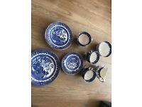 Burleigh ware willow tea set