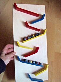 Wooden Children Kids Sloping Slope Rolling Zig Zag Race Car Slider Vehicle Runner Toy