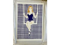 Trapeze Girl print by Hello Marine, signed, limited edition