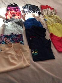 19 summer tops, vest & tees size 12/14
