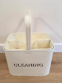 Cream cleaning bucket with removable top tray