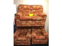 *** G Plan Terracotta 2x1x1 in excellent condition***Free Local Delivery***
