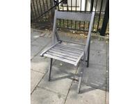 Folding chair (dark grey/brown)