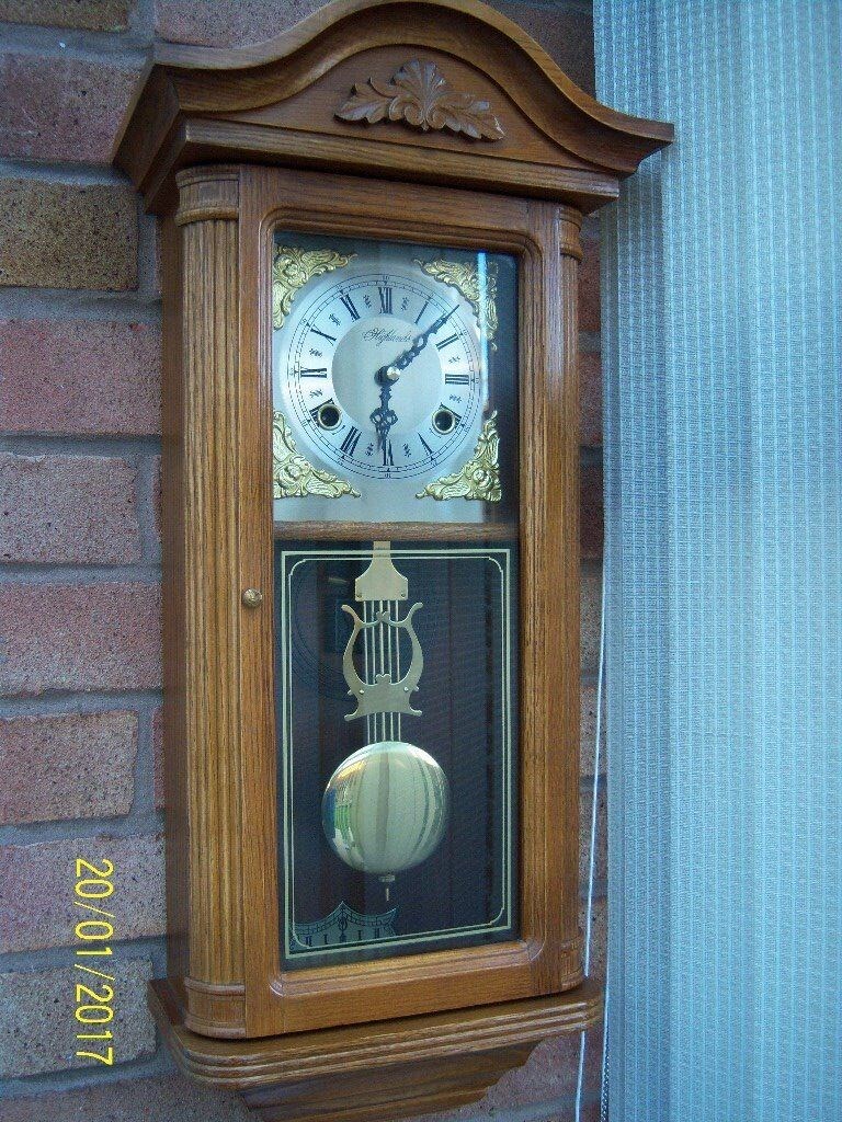 Highlands chiming wind up pendulum wall clock in whitnash highlands chiming wind up pendulum wall clock amipublicfo Image collections