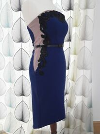 Stunning new royal blue and black dress Lipsy and Michelle keegan dress