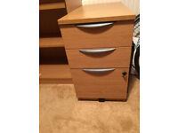 Solid Three Draw Filing Cabinet