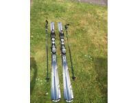 ATOMIC Metron 11B5 Skis & Carbon Fibre KOMBERDELL Poles
