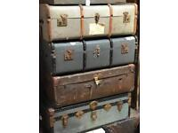 Selection of trunks cases chests