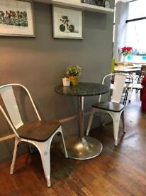 Bistro coffee table and chairs
