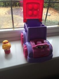 mega bloks pink truck & driver