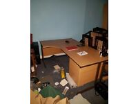 3x left hand office desks