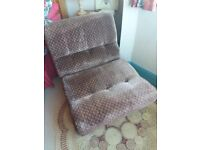 Rest Assured chair-bed, single. Old but in VGC. Rarely used. No safety labels.