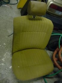 TRIUMPH DOLOMITE FRONT SEAT IN BEIGE - FITS ALL MODELS - FAIR CONDITION