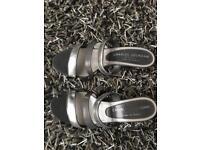 Silver Charles Jourdan heels
