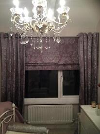 Next Curtains and Roman Blind