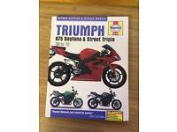 Triumph street triple 675 Daytona Haynes manual
