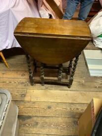 solid oak gate legged tables