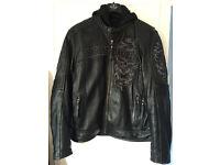 Harley davidson leather jacket, size M