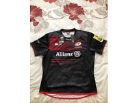 SIGNED SARACENS 2017/18 RUGBY SHIRT EXTRA LARGE 100 % AUTHENTIC NEW WITH TAGS COLLECTORS ITEM!