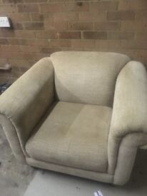 2 DFS armchairs
