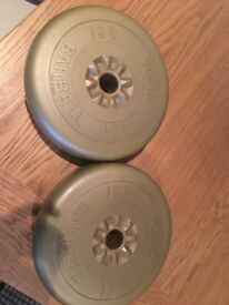 Barbell 4.5kg York weight plates x 3