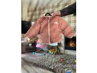 Baby north face reversible jacket