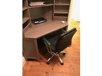 Corner Desk Ikea hemnes + argos chair