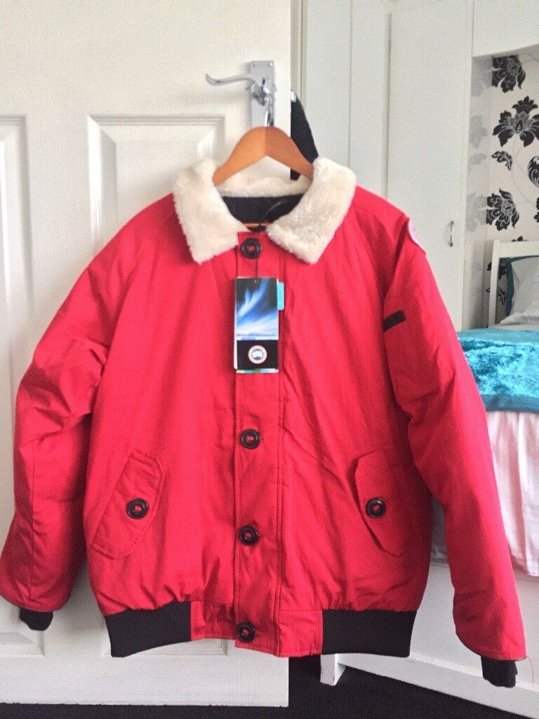 Canada Goose Foxe Bomber Jacket BNWT RED   in Leicester, Leicestershire   Gumtree