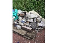 FREE - rubble and garden slabs