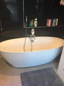 Oval shape bath