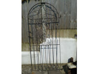 Arched Topped Wrought Iron Gate