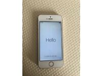 IPHONE 5s: White & Gold, Vodafone, mint condition with screen protectors still on
