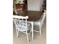 Table & chairs with Laura Ashley cushions