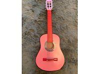 Child's pink guitar