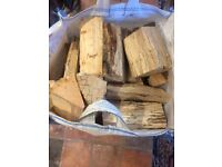 Logs. Good quality hardwood logs suitable for open fires and stoves. In a handled bag as shown.