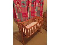 Baby's pine crib