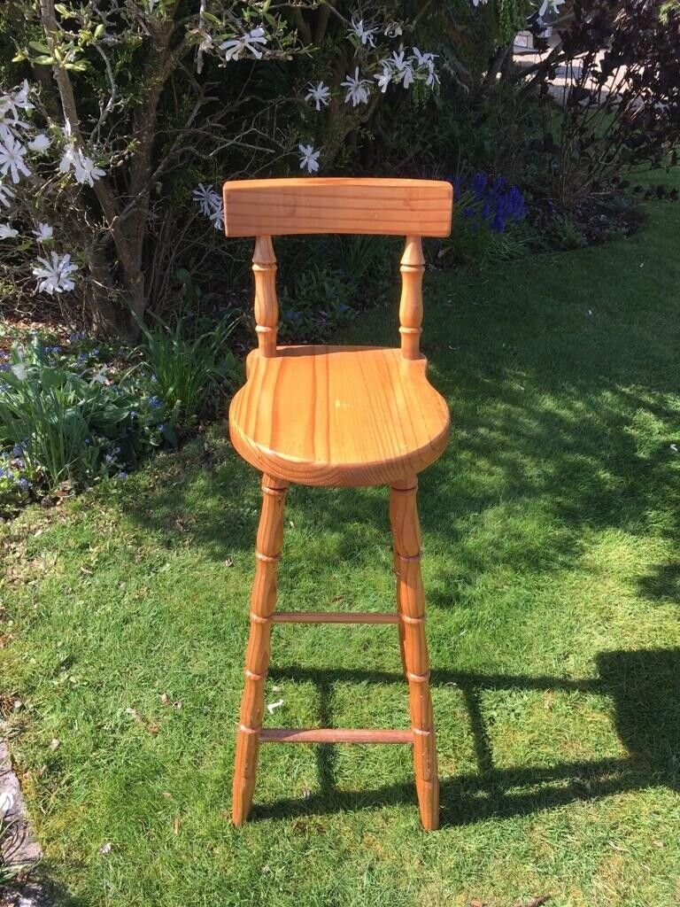 Brilliant Pine Kitchen Or Bar Stool In Backwell Bristol Gumtree Caraccident5 Cool Chair Designs And Ideas Caraccident5Info