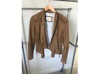Leather jacket, size 36, NEW.