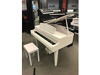 New Display Yamaha CLP 565GP Polished White Digital Piano Finance Available