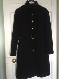 Women's Coat - Size 8 (As New) Wool Blend with Cashmere