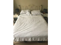 Iron King Size Bed + Fully sprung mattress