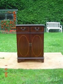 Mahogany Cupboard / Cabinet with Three Shelves for Storage with a Lift Up Lid. Can Deliver.